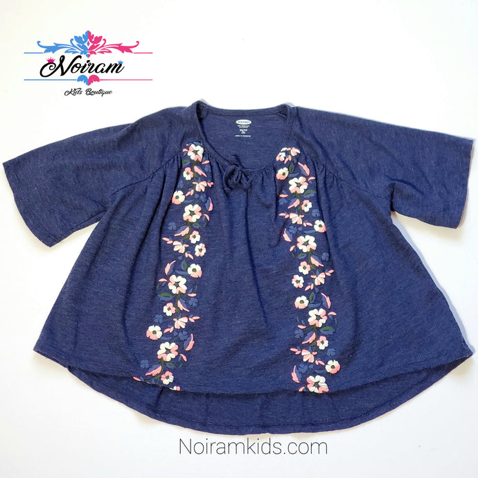 Old Navy Girls Floral Poncho Top Used View 1
