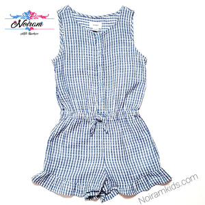 Old Navy Girls Plaid Romper Size 8 Used