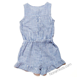 Old Navy Girls Plaid Romper Size 8 Used View 3