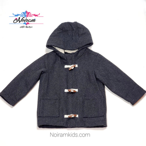 Old Navy Kids Grey Peacoat 3T Used View 1