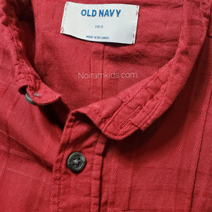 Old Navy Maroon Boys Button Down Shirt Used View 3