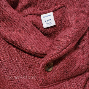Old Navy Boys Maroon Sweater One Piece Used View 3