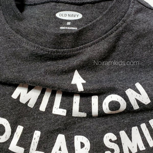 Old Navy Million Dollar Smile Boys Shirt 2T Used View 3