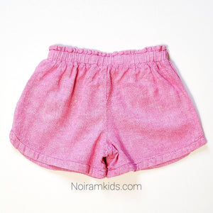 Old Navy Girls Pink Linen Shorts 5T Used View 2