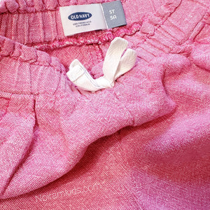 Old Navy Girls Pink Linen Shorts 5T Used View 3