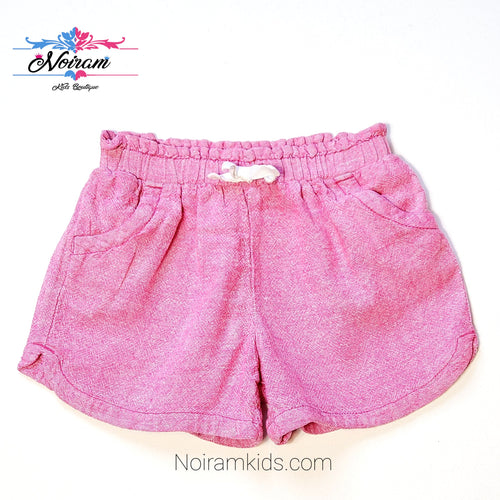 Old Navy Girls Pink Linen Shorts 5T Used View 1