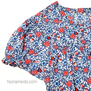 Oshkosh Blue Floral Girls Top 3T Used View 2