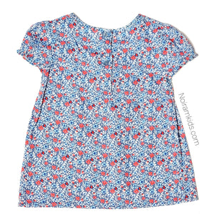 Oshkosh Blue Floral Girls Top 3T Used View 3