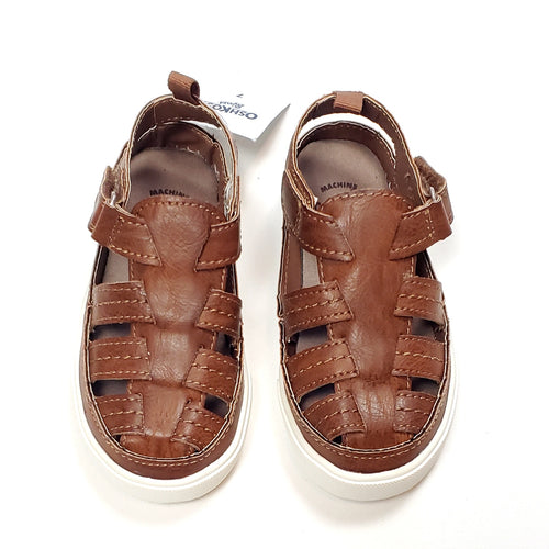 Oshkosh Boys Brown Sandals Size 7 NWT View 1