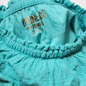 Genuine Kids Oshkosh Girls Teal Tiered Dress 2T Used View 3