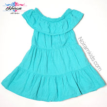 Load image into Gallery viewer, Genuine Kids Oshkosh Girls Teal Tiered Dress 2T Used View 1