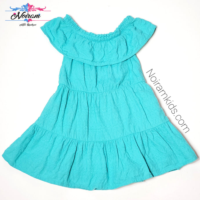 Genuine Kids Oshkosh Girls Teal Tiered Dress 2T Used View 1