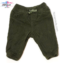 Load image into Gallery viewer, Oshkosh Baby Boys Olive Green Corduroy Joggers Used View 1