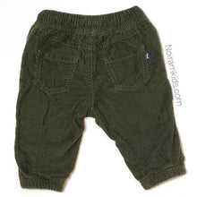 Load image into Gallery viewer, Oshkosh Baby Boys Olive Green Corduroy Joggers Used View 2