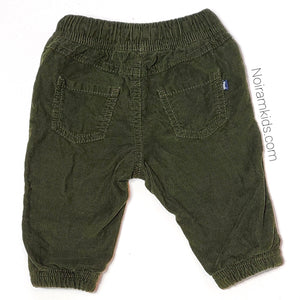 Oshkosh Baby Boys Olive Green Corduroy Joggers Used View 2