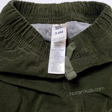 Load image into Gallery viewer, Oshkosh Baby Boys Olive Green Corduroy Joggers Used View 3