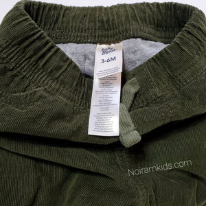 Oshkosh Baby Boys Olive Green Corduroy Joggers Used View 3