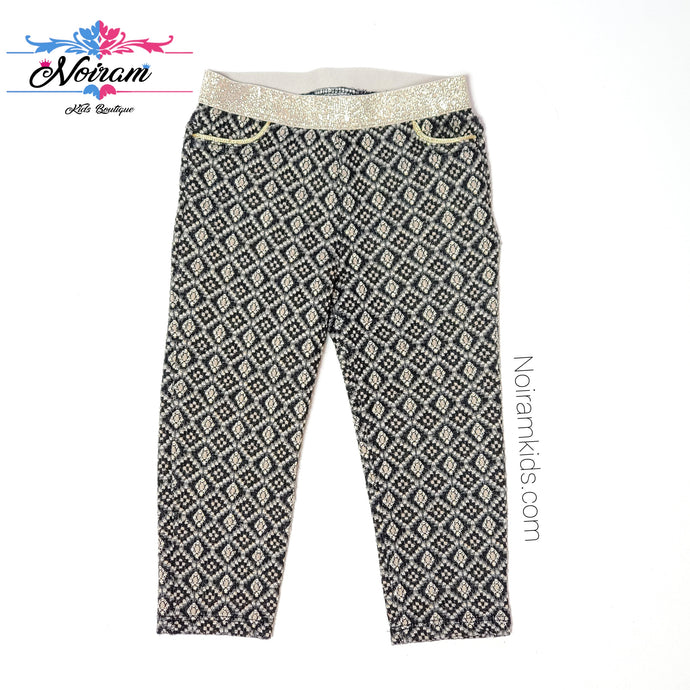 Genuine Kids Oshkosh Patterned Girls Pants 18M Used View 1