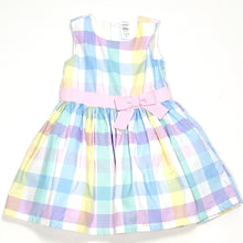 Load image into Gallery viewer, Carters Pastel Plaid Girls Dress 24M NWT View 1