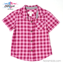 Load image into Gallery viewer, Cat Jack Pink Check Plaid Girls Shirt 18M Used View 1