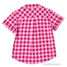 Load image into Gallery viewer, Cat Jack Pink Check Plaid Girls Shirt 18M Used View 2