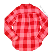 Load image into Gallery viewer, Old Navy Pink Red Flannel Girls Shirt Large Used View 2