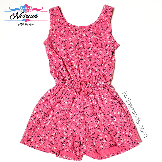 Gap Kids Pink Floral Girls Romper Size 4 Used View 1