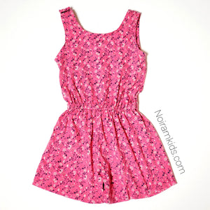 Gap Kids Pink Floral Girls Romper Size 4 Used View 4