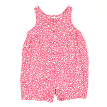 Load image into Gallery viewer, Lands End Pink Floral Girls Romper 6M Used View 1
