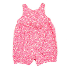 Load image into Gallery viewer, Lands End Pink Floral Girls Romper 6M Used View 3