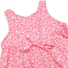 Load image into Gallery viewer, Lands End Pink Floral Girls Romper 6M Used View 4