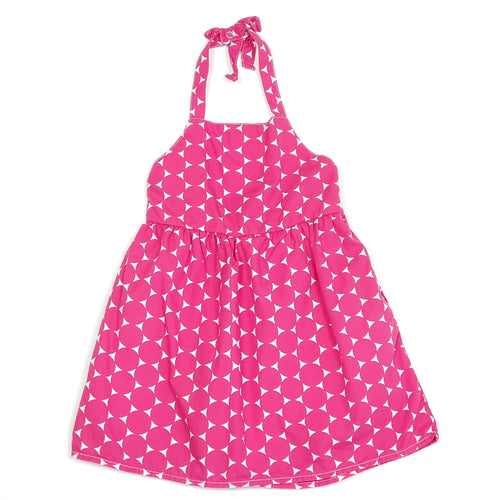 Old Navy Girls Pink Polka Dot Dress 12M Used View 1
