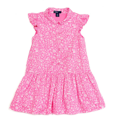 Baby Gap Girls Pink White Floral Dress 2T Used View 1
