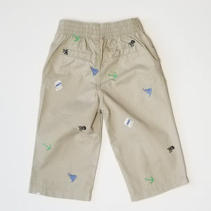 Cherokee Baby Boy Pirate Khaki Pants 12M Used View 3