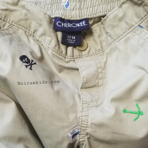 Cherokee Baby Boy Pirate Khaki Pants 12M Used View 4