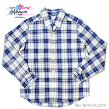 Load image into Gallery viewer, Childrens Place Blue Plaid Boys Shirt Size 5 Used View 1