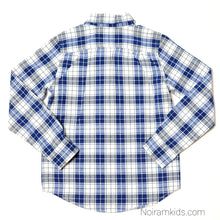 Load image into Gallery viewer, Childrens Place Blue Plaid Boys Shirt Size 5 Used View 2