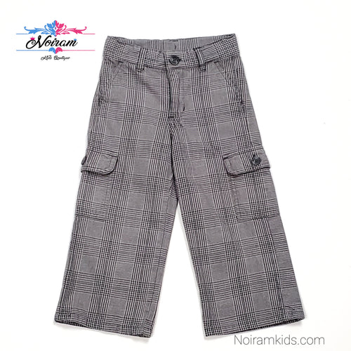 Janie and Jack Plaid Boys Cargo Pants 2T Used View 1