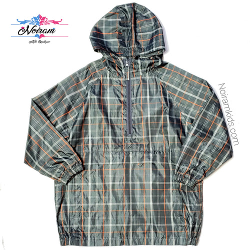 Childrens Place Plaid Boys Rain Jacket Size 7 Used View 1
