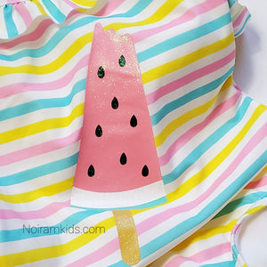 NWT Primark Baby Girls Watermelon Swimsuit View 2