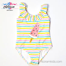 Load image into Gallery viewer, NWT Primark Baby Girls Watermelon Swimsuit View 1