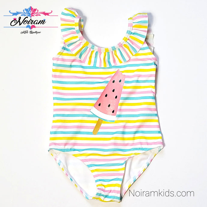 NWT Primark Baby Girls Watermelon Swimsuit View 1