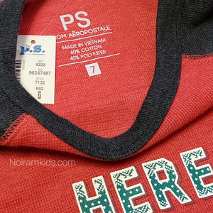 NWT PS Aeropostale Boys Christmas Thermal Shirt View 4
