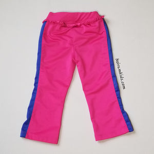 Puma Pink Blue Ruffle Waist Pants Toddler Girls 2T Image 2