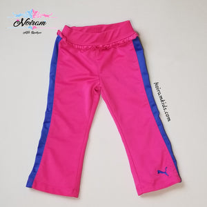 Puma Pink Blue Ruffle Waist Pants Toddler Girls 2T