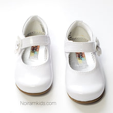 Load image into Gallery viewer, Rachel Toddler Girls White Patent Leather Shoes Used View 2