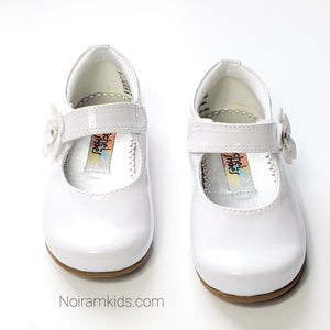 Rachel Toddler Girls White Patent Leather Shoes Used View 2