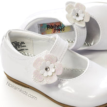 Load image into Gallery viewer, Rachel Toddler Girls White Patent Leather Shoes Used View 4