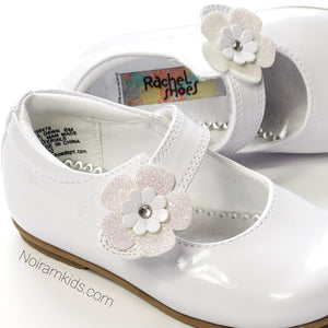 Rachel Toddler Girls White Patent Leather Shoes Used View 4