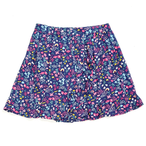 Carters Girls Rainbow Floral Ruffle Skort Size 7 Used View 1